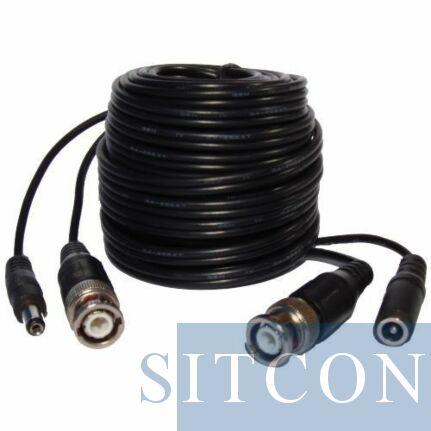 BNC video / stroom kabel - 10 Mtr