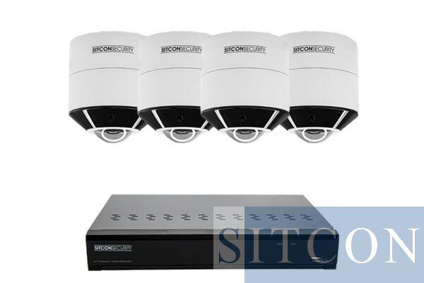 Fisheye 360º bewakingscamera set SMART 4