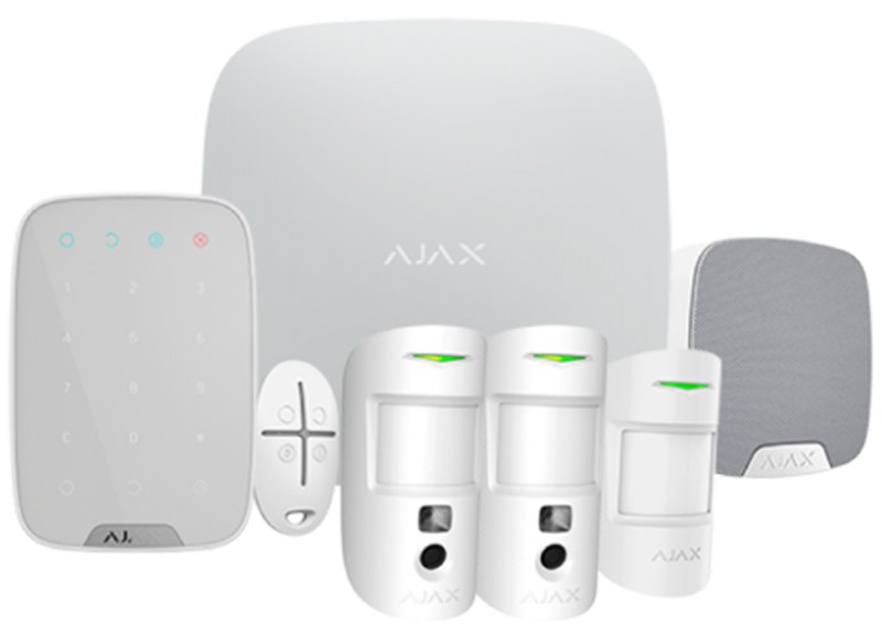 Ajax Draadloos alarmsysteem Deluxe met PIR cams Wit SMART