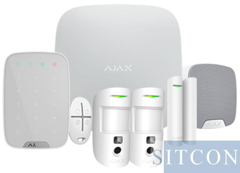 Ajax Draadloos alarmsysteem Compleet PIR cams Wit SMART
