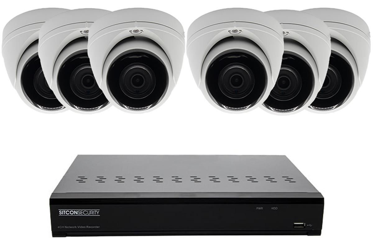 Dome mini beveiligingscamera set ELITE 6