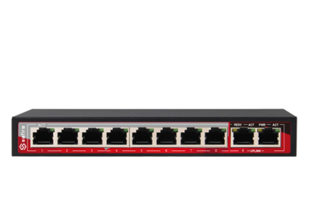 8-kanaals PoE switch