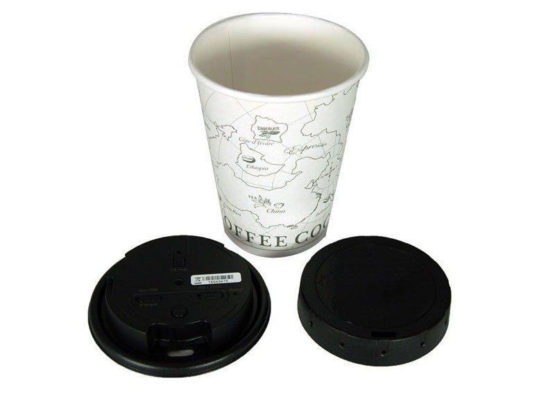Koffie deksel spy camera